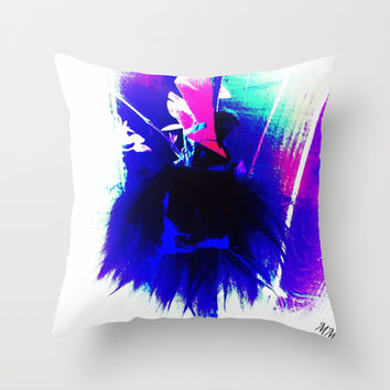 Shaggy Sheep - Madame Mazuni Throw Pillow by MADAME MAZUNI