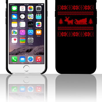 reindeer with sleigh 5 5s 6 6plus phone cases