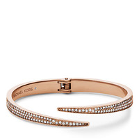 Michael Kors Rose Gold Tone and Crystal Matchstick Cuff Bracelet