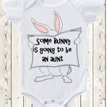 Easter Pregnancy Announcement Idea Baby Announcement Birth Announcement Onesuit ® Brand Bodysuit Grandparents, Grandma, Grandpa, Aunt, Uncle