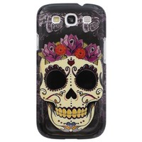 Bfun Skull Flower Hard Cover Case For Samsung Galaxy S3 i9300