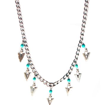 Wild Dreamer Arrowhead Fringe Necklace