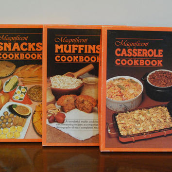 Magnificent Casserole, Muffins and Snacks Cookbook 1986 Boxed Sets, Illustrated Food Popular Series