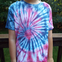 Kids Patriotic Tie Dye T-Shirt, Youth M, Red White and Blue Shirt, American Shirt, USA, America, 4th of July rwb tee, Tweens, fourth of july
