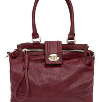 Luxe Interior Burgundy Tote