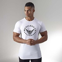 Men Compression Shirt Skin Tight Short Sleeve Jerseys Fitness Male Quick Dry Gyms T shirt Cross fit tops