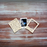 Embroidered Lace Picture Frame-Small Square Picture Frame-Polaroid Picture Frame-Off-White Picture Frame