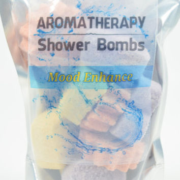 Aromatherapy Shower Bombs - Natural Handmade Shower Steamers, Shower Fizzies, Shower Tablets, Shower Melts, Shower Fizzy Spa Shower Soothers