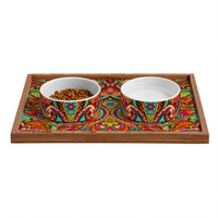 Aimee St Hill Paisley Orange Pet Bowl and Tray