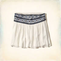 Embroidered Drop Yoke Skater Skirt