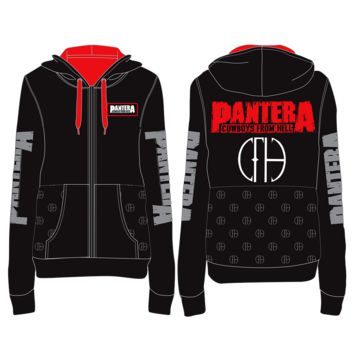 Pantera Cut N Sew - Mens Black/Red Hoodie