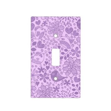 Lovin' Life in Purple Light Switch Cover