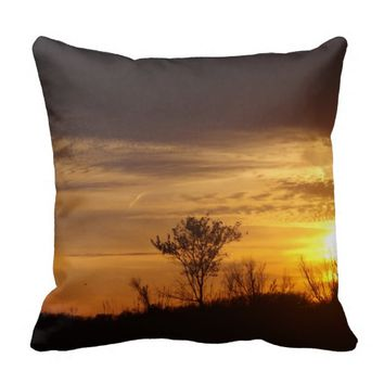 Gold In The Sky Throw Pillow
