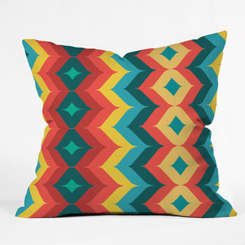 Juliana Curi Chevron 4 Outdoor Throw Pillow