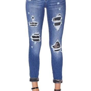 PRE_ORDER Camo print patch jeans Judy Blue
