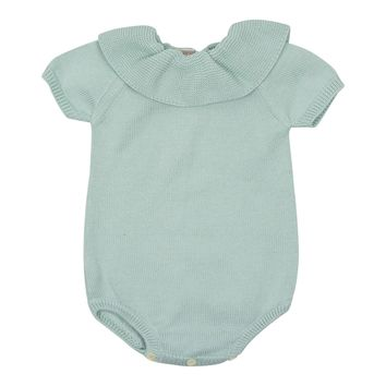 Carmina Baby Boys' Water Collared Knit Romper
