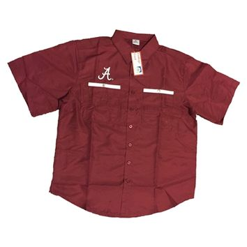 Alabama Crimson Tide Red Fishing Shirt | BAMA Fishing Shirt | Alabama Fishing Shirt