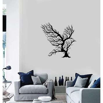 Vinyl Wall Decal Abstract Bird Branches Tribal Art Room Home Interior Idea Stickers Mural (ig5911)