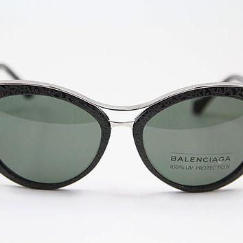 balenciaga ba0033 01n black light ruthenium sunglasses 2
