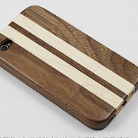 iphone 4 case, iphone 4s case, real wood bamboo made stripe iphone 4 4s case covers