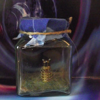 doctor who captured Dalek in a jar.