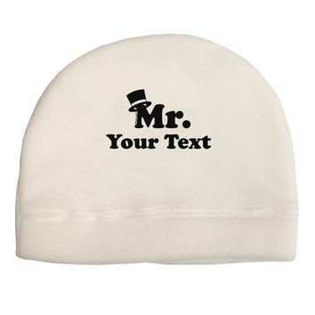 Personalized Mr Classy Adult Fleece Beanie Cap Hat by TooLoud
