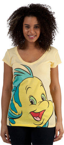 Little Mermaid Flounder Shirt From 80stees Com Disney