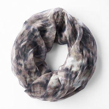 Simply Vera Vera Wang Tie-Dyed Mini Infinity Scarf, Size: One