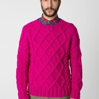 caswtr8040 - Cable Knit Canadian Sweater