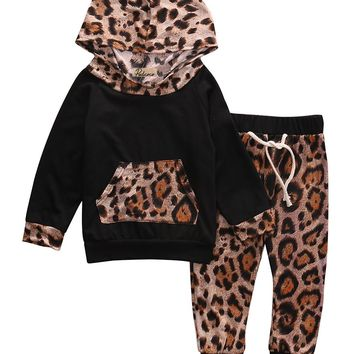 Leopard Print Tracksuit Top + Pants Outfits