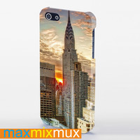 New York Chrysler Building In Sunset View iPhone 4/4S, 5/5S, 5C Series Full Wrap Case