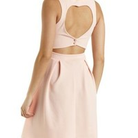 Heart Cut-Out Skater Dress by Charlotte Russe