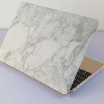 white marble macbook air 11 13 retina 13 15 pro 15 12 mac 12 case cover novo rubberized hard shell gift  number 1