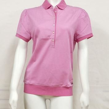 Salvatore Ferragamo Pink Button Up Polo Shirt 11-8546PK X-Large