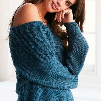 Ecote Marley Loop-Stitch V-Neck Sweater - Urban Outfitters
