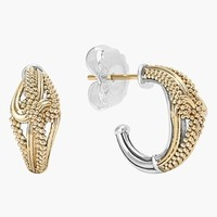 Women's LAGOS 'Torsade' Small Hoop Earrings - Gold/ Silver
