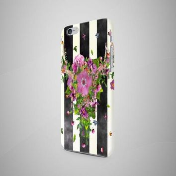 Horns Deer Flower iPhone 8 Case iPhone 7 Case
