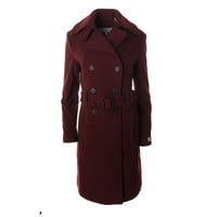 Marc New York Womens Wool Double-Breasted Trench Coat