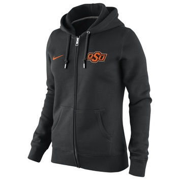 Nike Oklahoma State Cowboys Ladies Full Zip Hoodie - Black