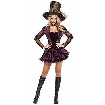 Sexy Mad Hatters Gothic Tea Party Halloween Costume
