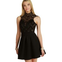 Black Hold On Skater Dress