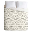 Wesley Bird Diamond Print 2 Duvet Cover