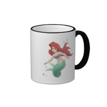 Detailed Little Mermaid Ariel Disney Ringer Coffee Mug