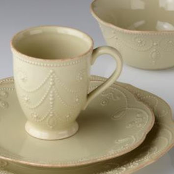 French Perle Pistachio 4-Piece Place Setting by Lenox