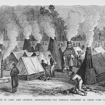 Chimney Architecture for Federal Soldiers at their campfires (Paper Poster)