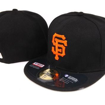 hcxx San Francisco Giants New Era MLB Authentic Collection 59FIFTY Hat Black-Orange