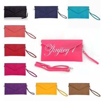 Hot Sale Elegant Lady's Handbag Women's Party Evening Clutch bags Suede shoulder Handbag Messenger Envelope Bags