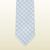 Gucci - GG pattern tie with web detail. 2215824B0024700