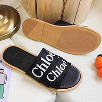 Chloe Summer Hot Sale Women Casual Print Slipper Sandals Shoes Black