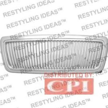 Ford 2004-2008 Ford F150 Chrome Vertical Narrow Bar Abs Grille Performance